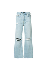 Jeans a campana strappati azzurri di Simon Miller