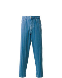 Jeans a righe verticali blu