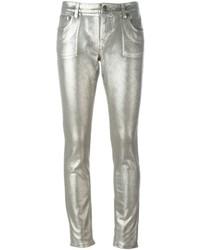 Jeans aderenti argento