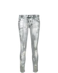 Jeans aderenti argento di Faith Connexion