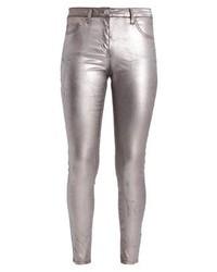 Jeans aderenti argento di MARCIANO LOS ANGELES
