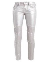 Jeans aderenti argento di Mavi