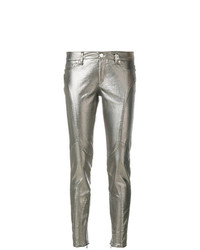 Jeans aderenti argento di Versace Jeans