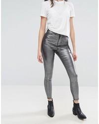 Jeans aderenti argento di WÅVEN