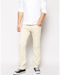 Jeans aderenti beige di Diesel