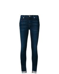 Jeans aderenti blu scuro di 7 For All Mankind