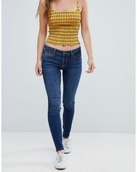Jeans aderenti blu scuro di Hollister