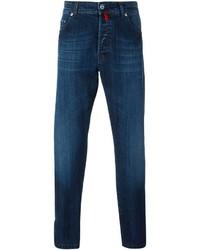 Jeans aderenti blu scuro di Kiton