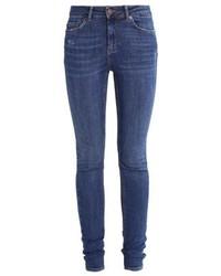 Jeans aderenti blu scuro di Pieces