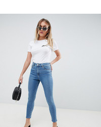 Jeans aderenti blu di Asos Petite