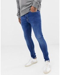 Jeans aderenti blu di New Look