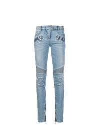 Jeans aderenti decorati azzurri di Balmain