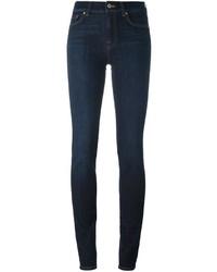 Jeans aderenti di cotone blu scuro di 7 For All Mankind