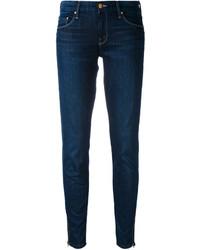 Jeans aderenti di cotone blu scuro di Mother