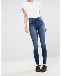 Jeans aderenti di cotone blu di Cheap Monday