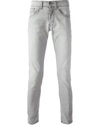 Jeans aderenti grigi