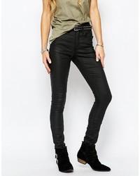 Jeans aderenti in pelle neri di Blend She