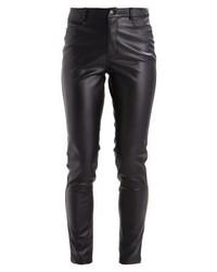 Jeans aderenti in pelle neri di KIOMI
