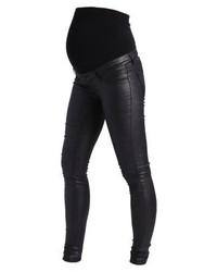 Jeans aderenti in pelle neri di Mamalicious