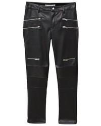 Jeans aderenti in pelle neri di Mango