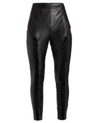 Jeans aderenti in pelle neri di Missguided