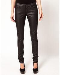 Jeans aderenti in pelle neri di Tripp