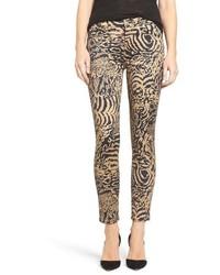 Jeans aderenti leopardati marrone chiaro