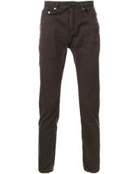 Jeans aderenti marrone scuro