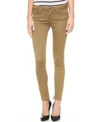 Jeans aderenti marroni