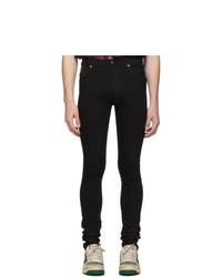 Jeans aderenti neri di Gucci