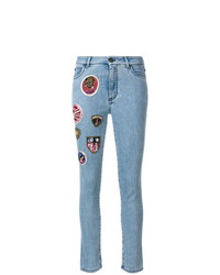 Jeans aderenti patchwork azzurri di Mr & Mrs Italy