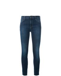 Jeans aderenti ricamati blu scuro di Gucci