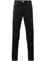 Jeans aderenti ricamati neri di Givenchy