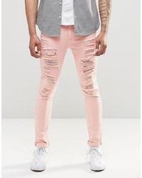 Jeans aderenti rosa