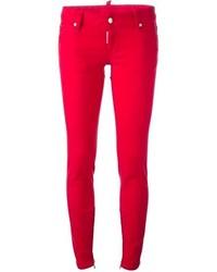 Jeans aderenti rossi