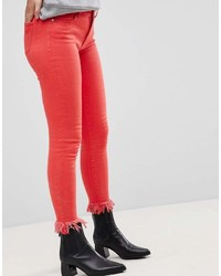 Jeans aderenti rossi di Only