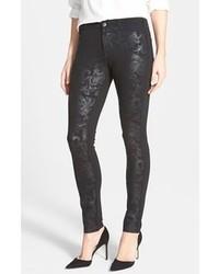 Jeans aderenti stampati neri
