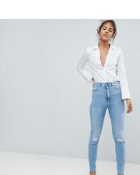 Jeans aderenti strappati azzurri di Asos Tall