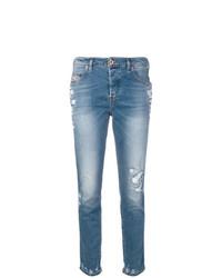 Jeans aderenti strappati azzurri di Diesel