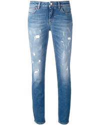 Jeans aderenti strappati azzurri di Dolce & Gabbana