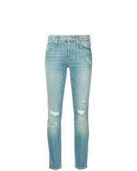 Jeans aderenti strappati azzurri di Mother