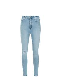 Jeans aderenti strappati azzurri di Nobody Denim