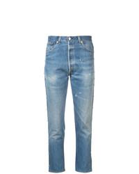 Jeans aderenti strappati azzurri di RE/DONE