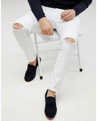 Jeans aderenti strappati bianchi di ASOS DESIGN
