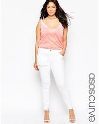 Jeans aderenti strappati bianchi di Asos