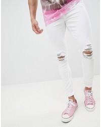 Jeans aderenti strappati bianchi di Jaded London