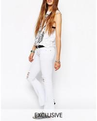 Jeans aderenti strappati bianchi di N.