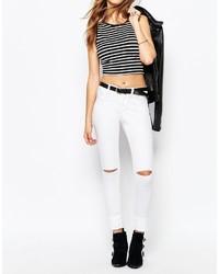 Jeans aderenti strappati bianchi di Noisy May