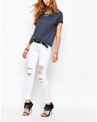 Jeans aderenti strappati bianchi di Tripp