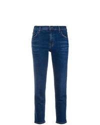 Jeans aderenti strappati blu scuro di J Brand